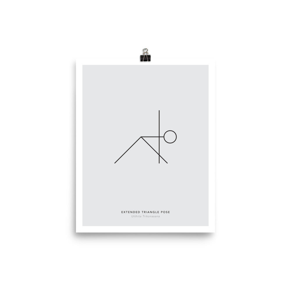 Minimalist Print : Yoga - Triangle Pose