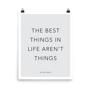 Minimalist Print : The Best Things