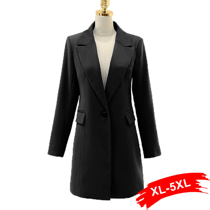 Plus Size Long Black Blazer | Seventy-One
