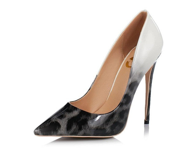 Women Pumps Nice Pointed Toe Thin High Heels  Nude Leopard Shoes | Seventy-One