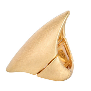 Women Simple Oval Drawing Alloy Re-sizable  Ring
