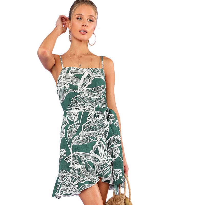 Women Spaghetti Strap Sleeveless Summer Dress - 71company.shop