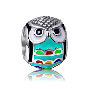 Bart The Owl Sterling Silver Charm Bead