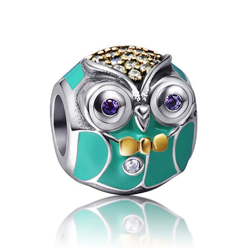 Micky The Owl Sterling Silver Charm Bead