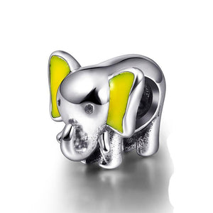 Cute Sterling Silver Elephant Charm
