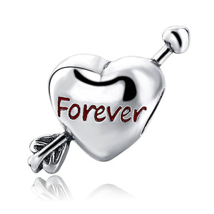 Forever Love Sterling Silver 925 Charm Bead