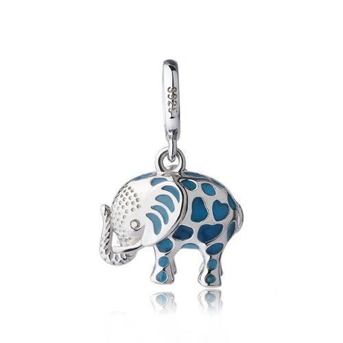 Genuine Sterling Silver Luminous Elephant Charm