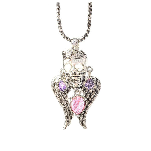 925 Sterling Silver Skull Queen Pendant Necklace