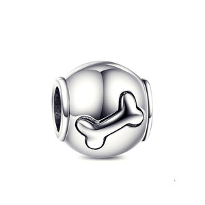 Dog Bone 925 Sterling Silver Charm Bead