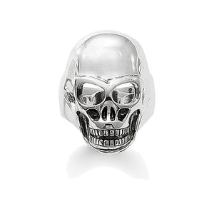 Adjustable  925 Sterling Silver Skull Ring