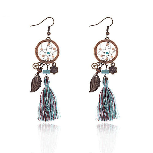 Leaves &Flowers Dream Catcher With Earrings