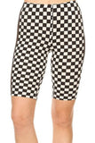 Checkered Biker Shorts