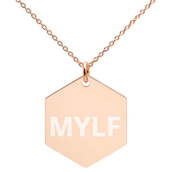 MYLF Engraved Hexagon Necklace