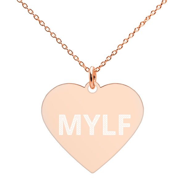 MYLF Engraved Heart Necklace