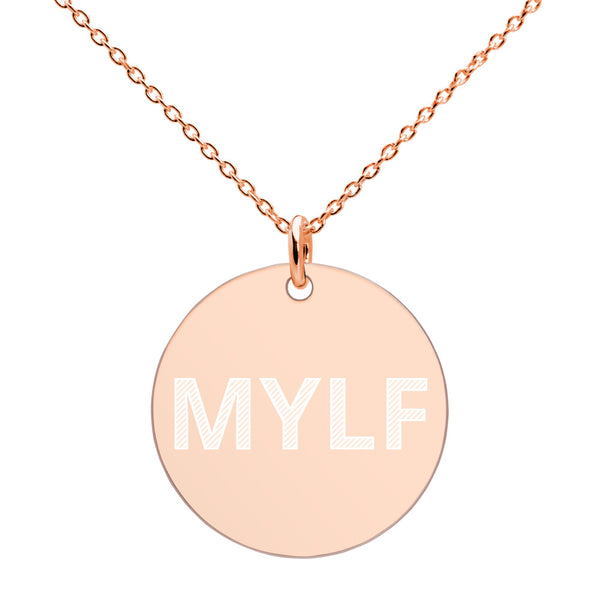 MYLF Engraved Disc Necklace