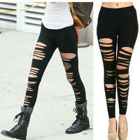 Lounge Leggings - Slashed Leg Leggings