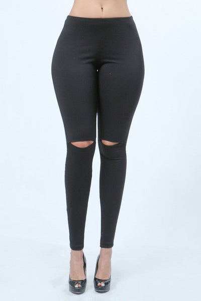 Lounge Leggings - Slit Knee Leggings