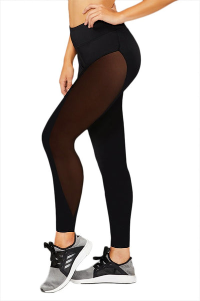 Leggings - Sport Jersey Leggings w/ Mesh