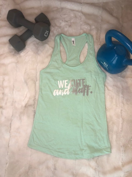 We Cute Racerback Tank