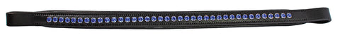 Browband - JHL Blue Diamante Padded