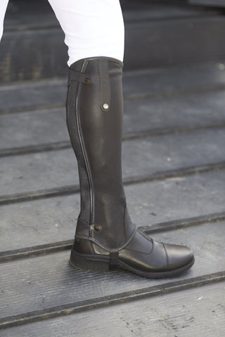 Mark Todd Collection Half Chaps Patent Piped Leather