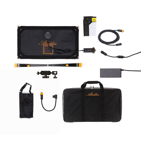 Aladdin ALL-IN 2 Color KIT w/Case (Bi-Color 2900K - 6200K, 1'x2', 100W + RGB 40W)