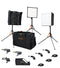 Aladdin BI-FLEX 1 - 3 Light Kit (50W Bi-Color) w/Soft Case, Softbox, Stand and Grid