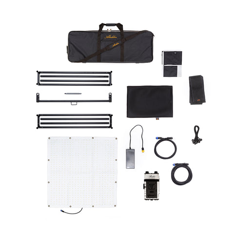Aladdin FABRIC-LITE V-Mount Full Kit w/Case Bi-Color (2900°K-6200°K) -200W