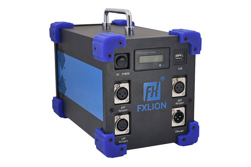 Fxlion FX-HP-7224-48D PLUS High Power 15V, 28V, & 48V Lithium-Ion Mega Battery, 1232Wh