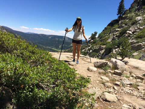Lake Tahoe hiker