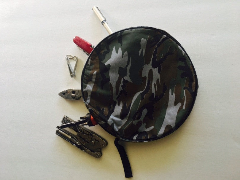 Camo Zippered Toiletries Bag - Trekking Hiking Walking,  - Collapsible Folding Pole,Earth Trek Gear - EarthTrek Gear
