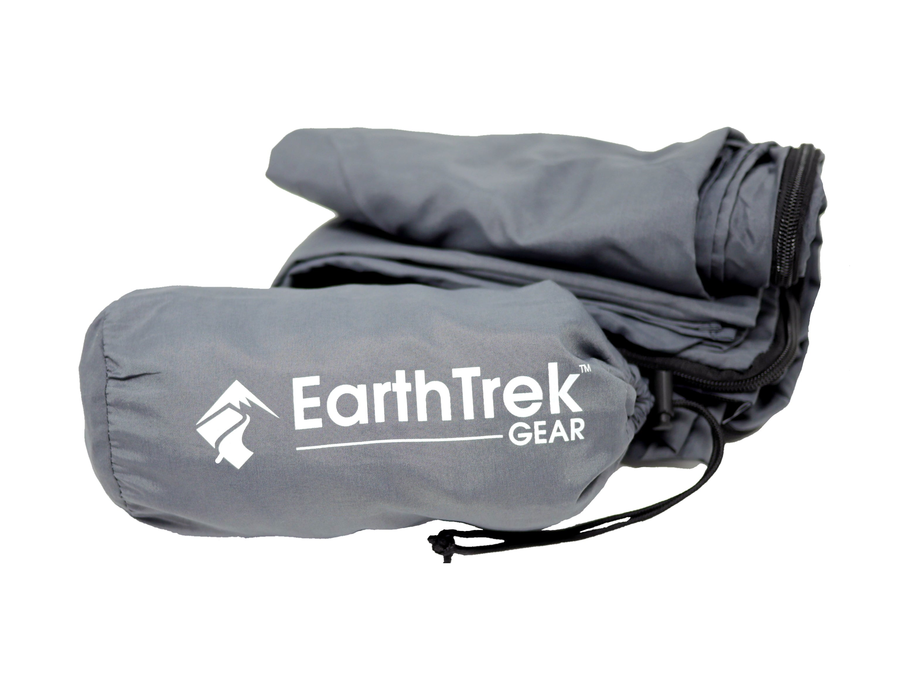 EarthTrek XL Large Jumbo Sleeping Bag Liner and Travel Blanket Combo Double Pack 2 Set