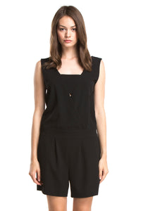 RYDER TAILORED ROMPER | Black