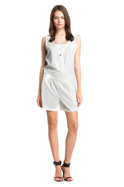 RYDER TAILORED ROMPER | Ivory