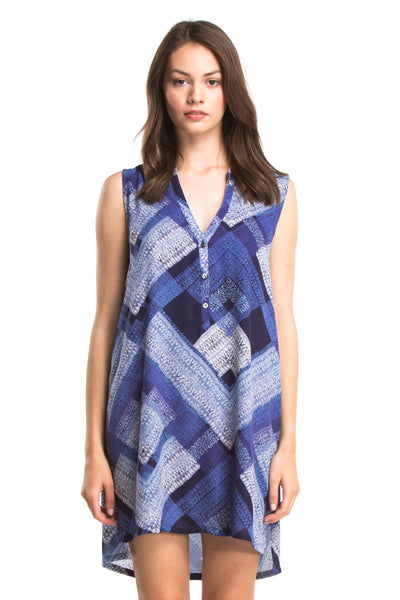 ZOEY SLEEVELESS DRESS | Blue