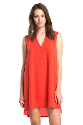 ZOEY SLEEVELESS DRESS | Chili
