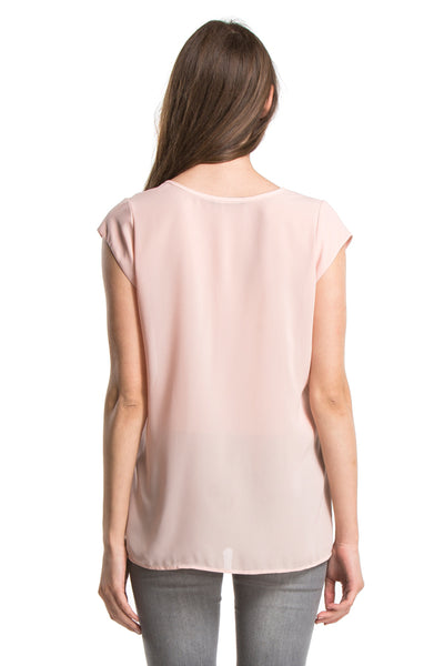 SADIE SHIRT W/ POCKET | Blush