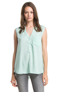 SADIE SHIRT W/ POCKET | Sea green