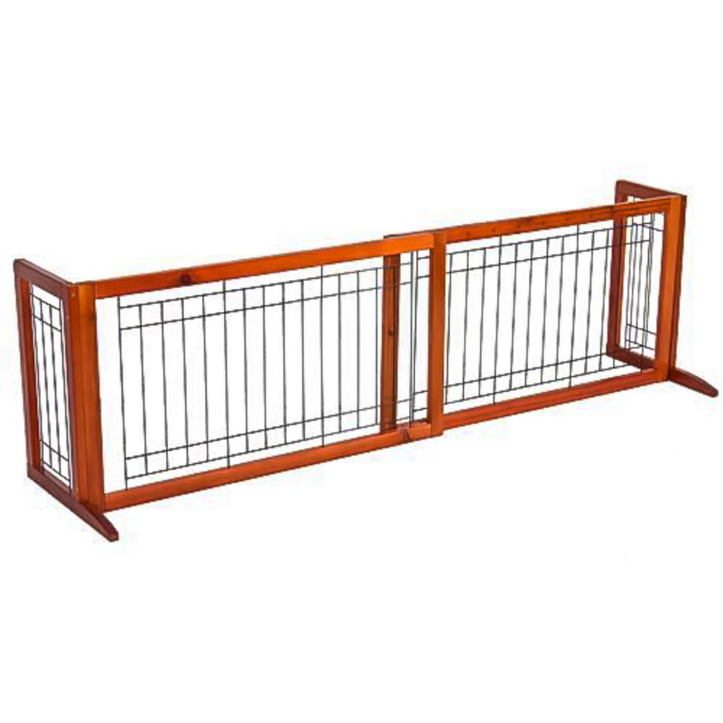 Freestanding Pet Gate - Brown