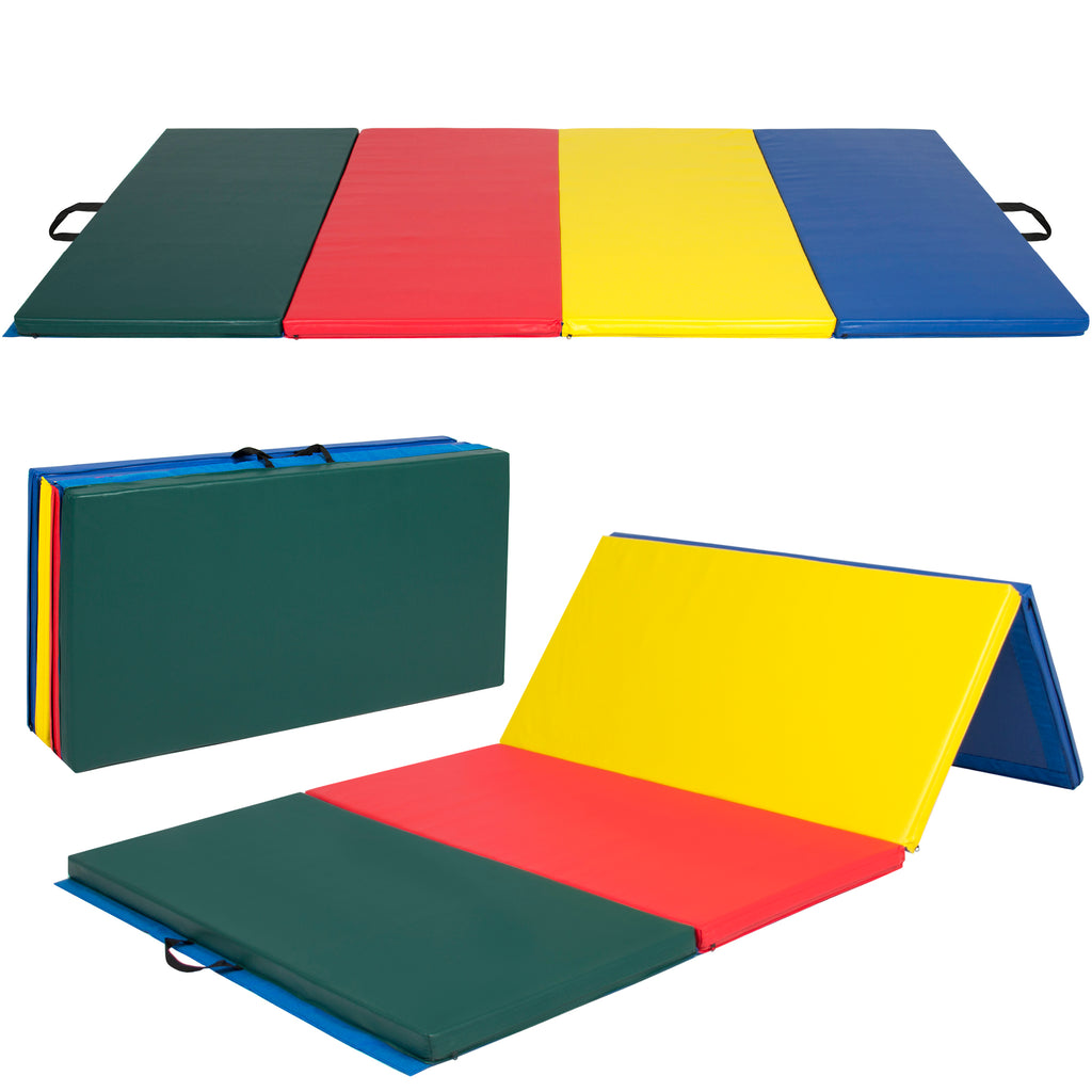 8 FT Folding Gymnastics Mat - Multicolor