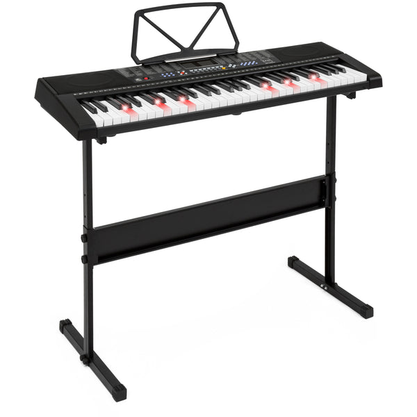 61-Key Electronic Keyboard Set w/ Adjustable H-Stand - Black
