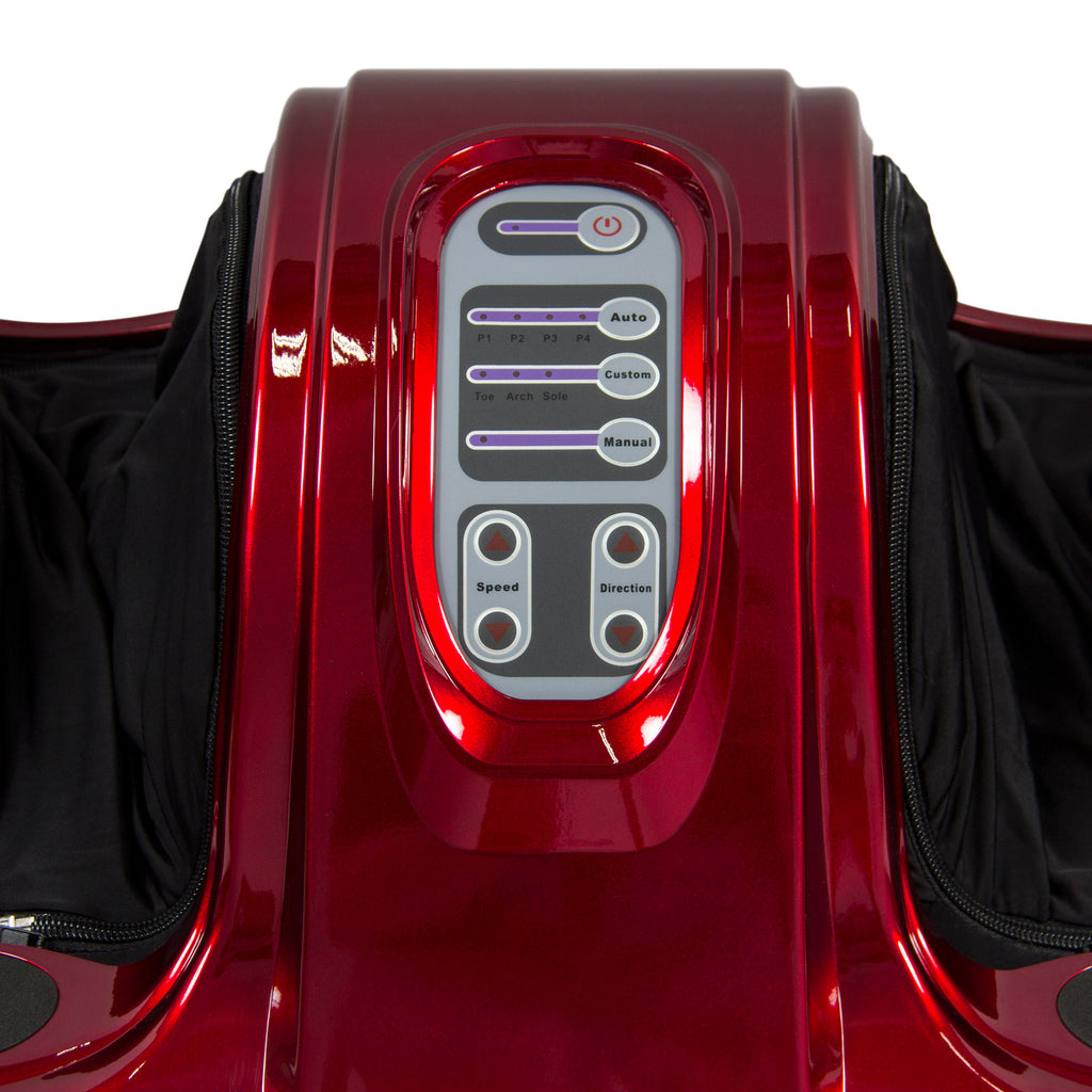 Electric Foot Massager w/ Remote, 3 Modes - Red