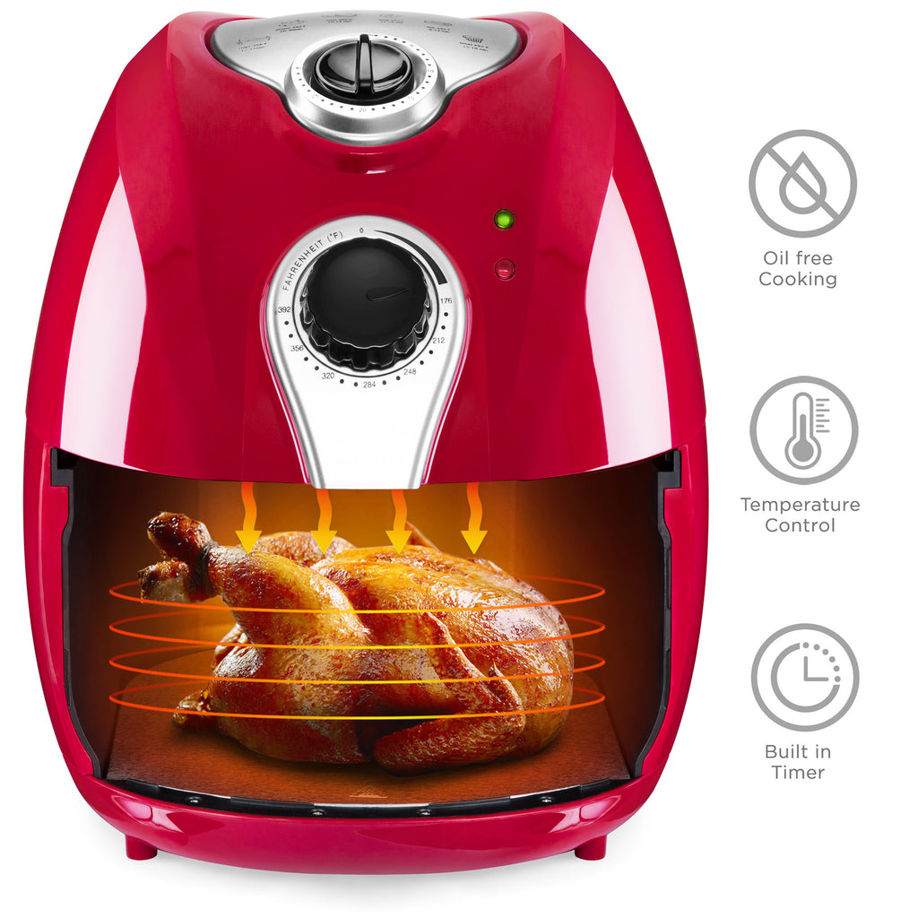 4.4 Qt Air Fryer - Red