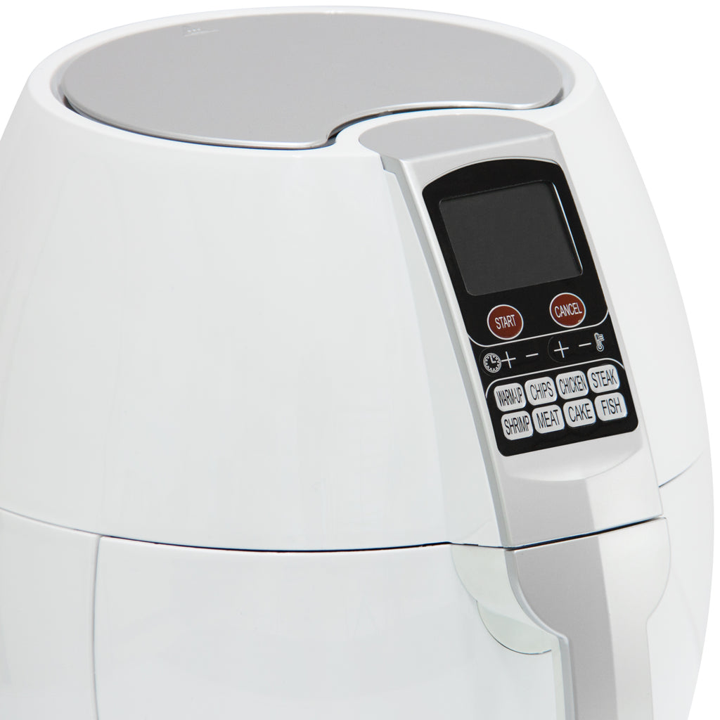 3.7Qt 1400 Watts Electric Air Fryer - White