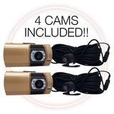 1080P Gold 4 Cameras Dashboard Camera