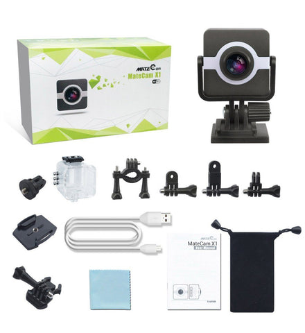 MateCam X1 1080P 160 Degree Wifi Standard Waterproof Action Camera - Alliance Cameras - Quality Dashcams and Action Cameras