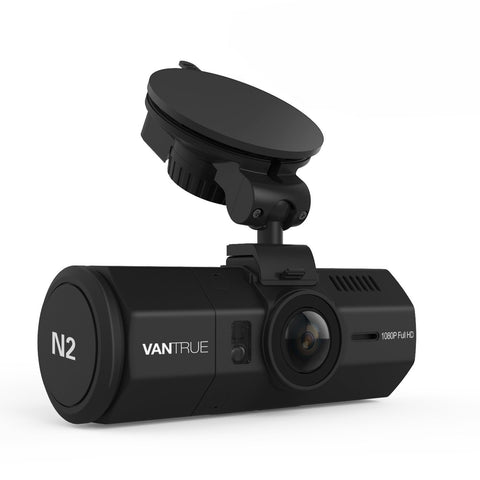 Vantrue N2 1080P Near 360 Degrees Interior Dual Cameras Dashboard Camera - Alliance Cameras - Quality Dashcams and Action Cameras
