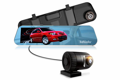 KDLinks R100 1296P Ultra HD Rear View Mirror Dual Cameras Dashboard Camera - Alliance Cameras - Quality Dashcams and Action Cameras