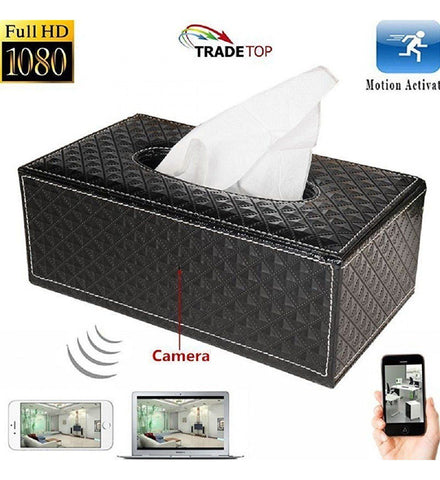 MateCam 1080P WIFI Tissue Box Nanny Camera - Alliance Cameras - Quality Dashcams and Action Cameras
