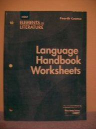 Elements of Literature, 4th Course: Language Handbook Worksheets, Grade 10